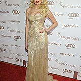 Amber Heard was the supreme sexpot in a glitzy, cleavage-baring gown at the Art of Elysium Heaven Gala.