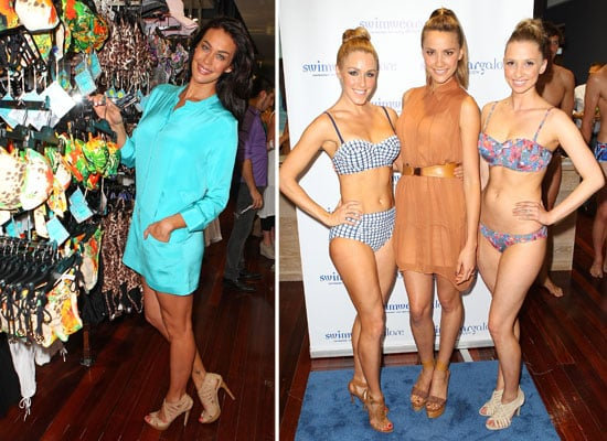 Pictures of Megan Gale and Rachael Finch at Swimwear Galore's Sexy Bikini Babe Filled Store Opening!