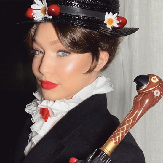 Gigi Hadid Mary Poppins Costume on New Year's Eve
