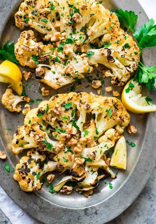 Grilled Cauliflower Recipes Dinners