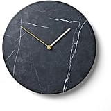 Menu Marble Wall Clock — Black