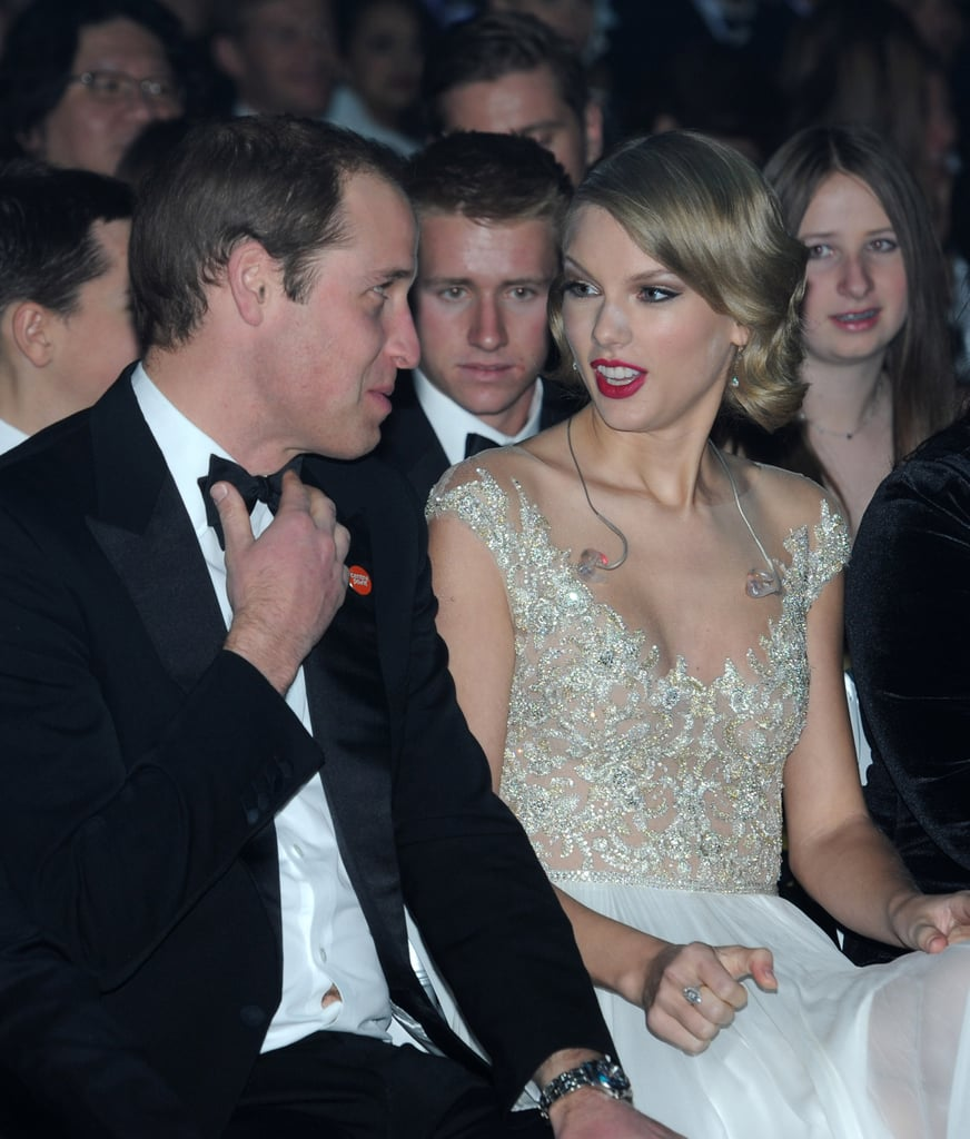 She had a shocked facial expression while attending the Winter Whites Gala with Prince William in November 2013.