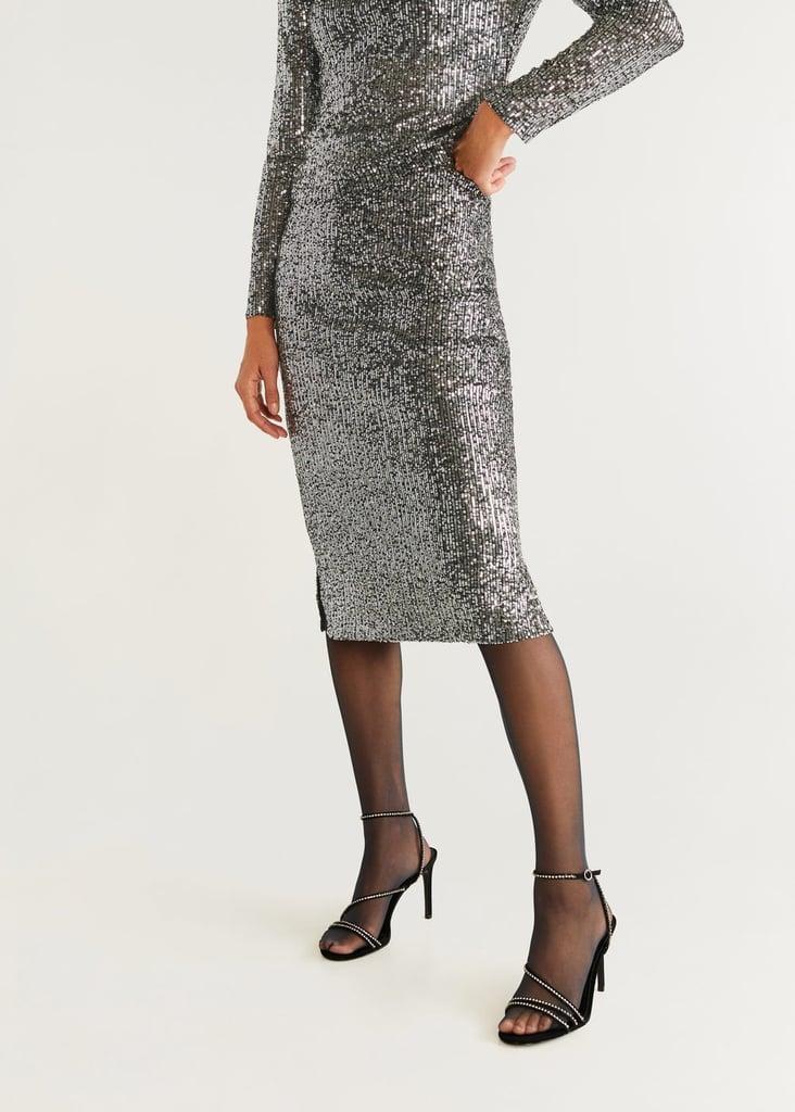 Mango Sequined Skirt