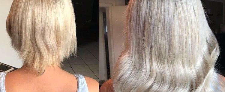 Hair Extension Before and After Photos