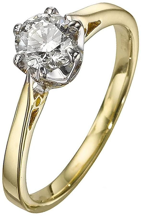Love DIAMOND 9 Carat Yellow Gold Solitaire Ring