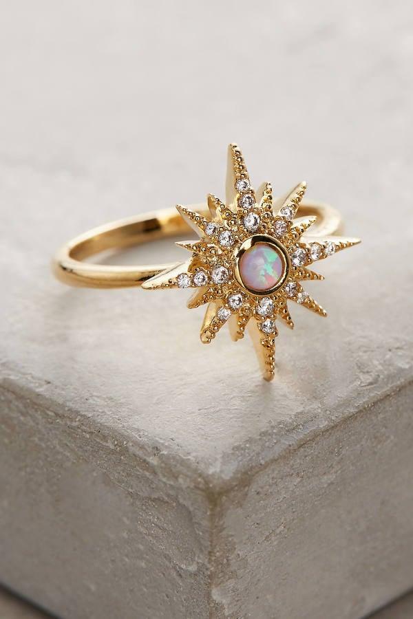 Opalescent Sunburst Ring