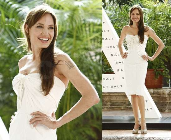Pictures of Angelina Jolie in Cancun for Salt