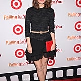 Rose Byrne wore a belted black dress to attend the Target party in NYC.