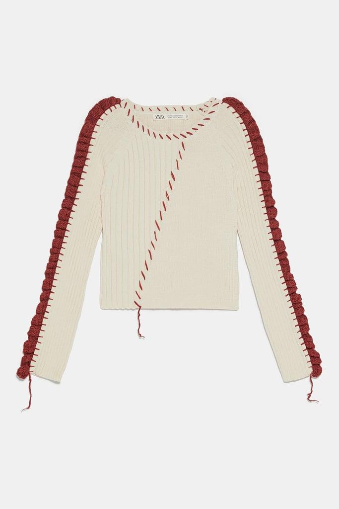 6d61ca95 Zara Studio Sweater With Topstitching | Zara Studio Collection ...