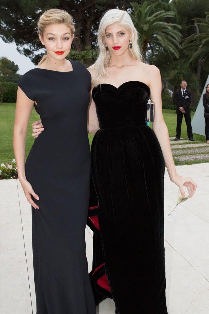 ارتدت هذا الفستان الأسود المحتشم خلال حفل amfAR Gala  بمدينة كان عام 2014.