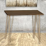 Live Edge Acacia Wood and Gold Hairpin Madison Pub Table