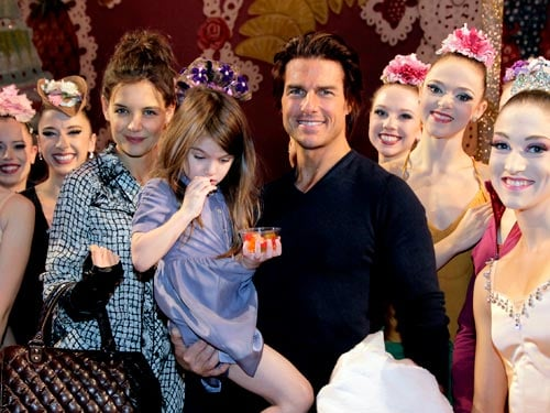 Tom Cruise,Katie Holmes and Suri were photographed at New York City Ballet's classic holiday production of The Nutcracker