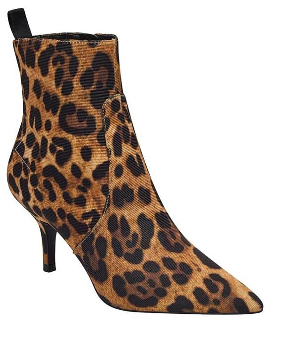 Leopard Kitten-Heel Booties