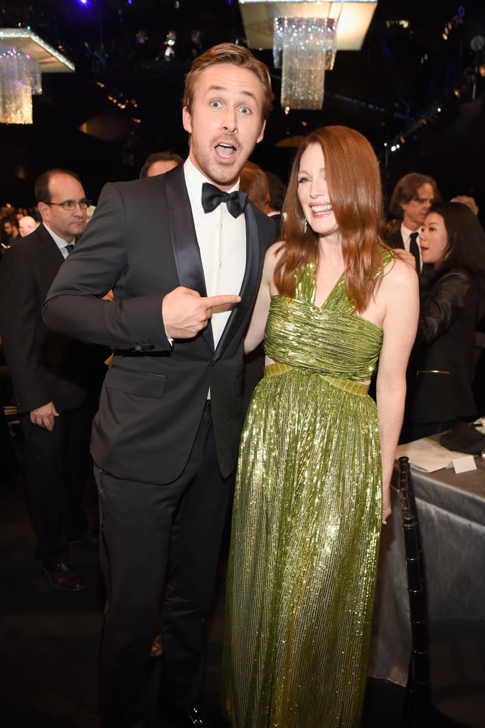 Ryan Gosling and Julianne Moore got silly backstage in 2016.
