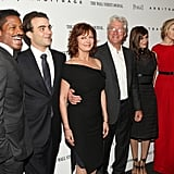 The Arbitrage cast, including Richard Gere, Susan Sarandon, Brit Marling, Laetitia Casta, Nate Parker, and Nicholas Jarecki, posed together in NYC.