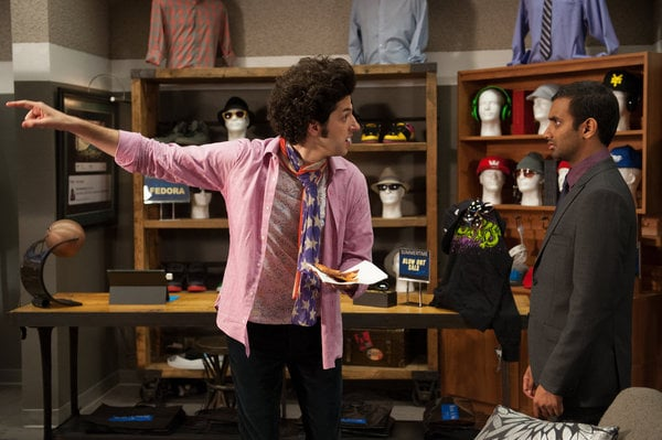 Jean-Ralphio (Ben Schwartz) is back! He and Tom (Aziz Ansari) are attempting to find the man who is trying to take down Rent-a-Swag.