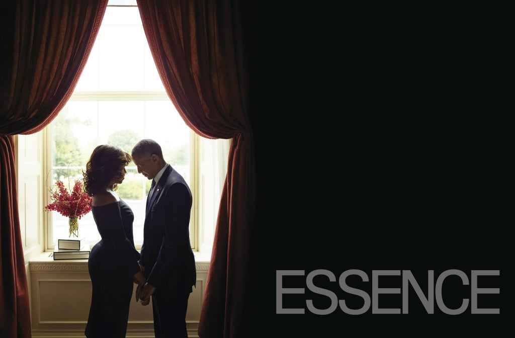 Michelle and Barack opened up all about their time in the White House, being parents to Sasha and Malia, and how they've shaped America in Essence's October issue, where they also posed for this ridiculously romantic photo.
