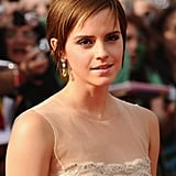 Her brunette pixie was grown out and piecey at the United Kingdom premiere of Harry Potter and the Deathly Hallows: Part 2 in 2011.