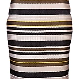 Jenni Kayne's Multi-Stripe Pencil Skirt ($495) is perfect for wearing when the weather heats up. I'll be wearing it with a silky, tucked-in blouse and heels for the office, and then taking it into casual territory for the weekend with a gray V-neck tee and Converse sneakers. — Britt Stephens