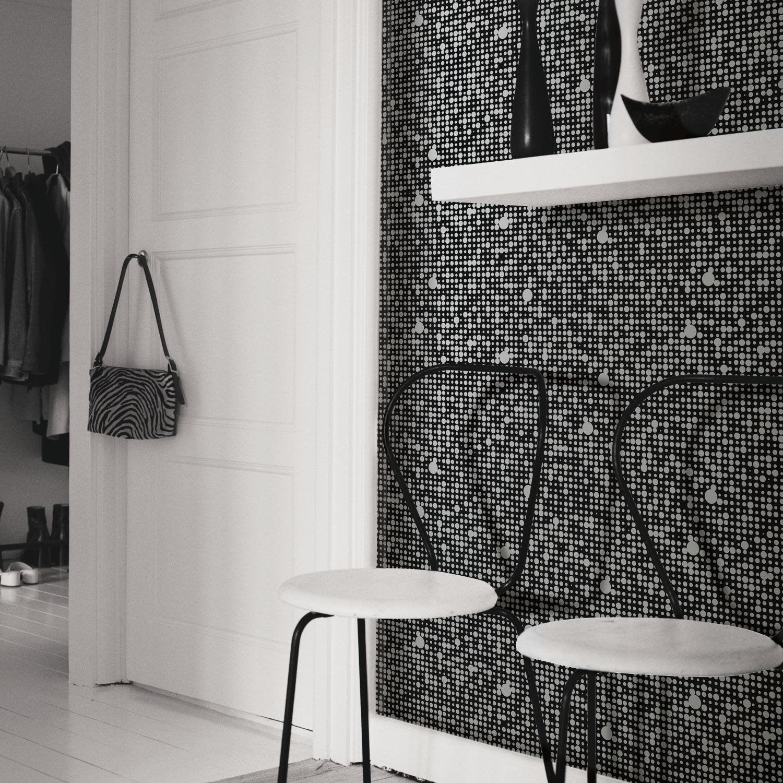 Roommates Black Polka Dot Peel And Stick Wallpaper 10 Temporary