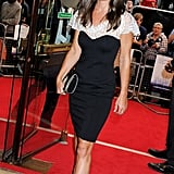 Wearing a black and white piece to the UK premiere of Shadow Dancer.