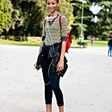 Pick Sneakers and a Striped Top