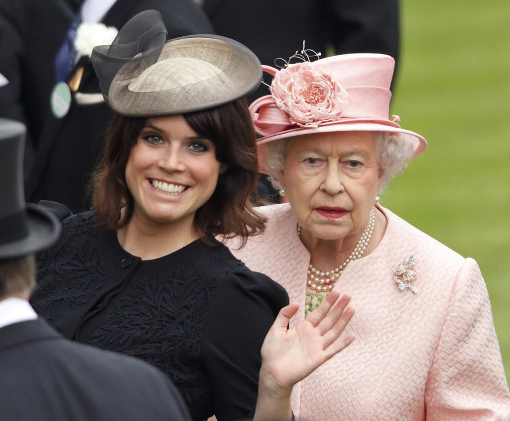 She clearly isn't shy in front of the Queen.