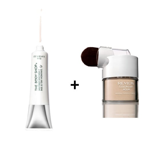 The Body ShopSkin Primer Moisturise It, $26.95 + Revlon ColorStay Aqua Mineral Finishing Powder, $34.95 The Body Shop stockists: 1800 065 232 Revlon stockists: 1800 025 488