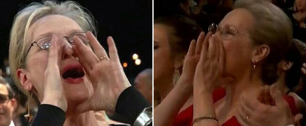Meryl Streep Shouting at the 2018 Oscars