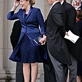 Autumn Phillips was patriotic in red, white and blue.