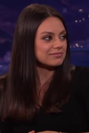 Mila Kunis Talks About Her Wedding Rings on Conan 2016
