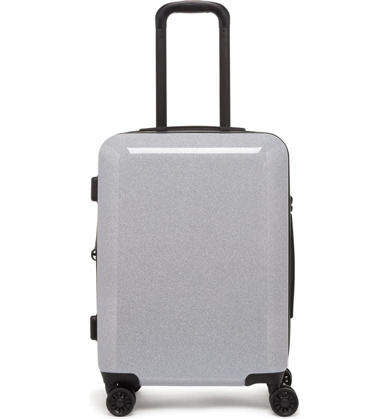 Calpak Medora Glitter 20-Inch Hardshell Spinner Carry-On Suitcase
