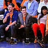 Andrew Garfield took in a NY Knicks game with a friend in May 2013.