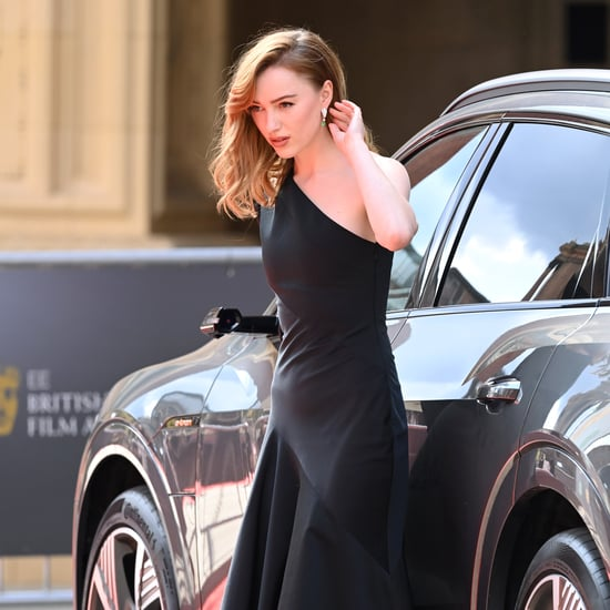 Phoebe Dynevor's Black Louis Vuitton Dress 2021 BAFTA Awards