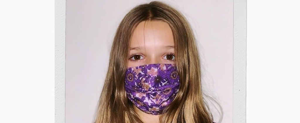 Harper Beckham Wears a Victoria Beckham Dress and Face Mask