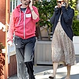 Kate Hudson Has Her Baby Bump and Fiancé, Matthew Bellamy, For Company at the Brentwood Country Mart