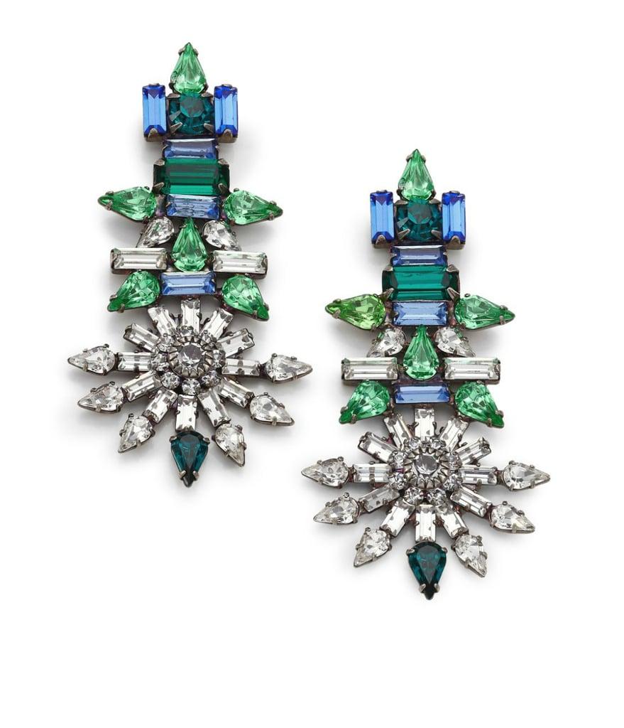 Dannijo Everly Drop Crystal Earrings ($420)