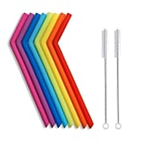 Hiware Reusable Silicone Drinking Straws