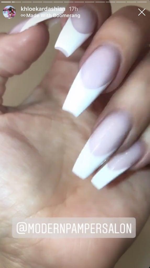 Khloé Kardashian's French Manicure