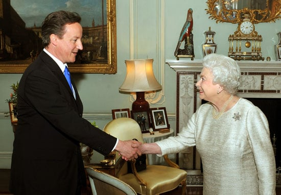 Pictures of David Cameron New Prime Minister Following Gordon Brown's Resignation