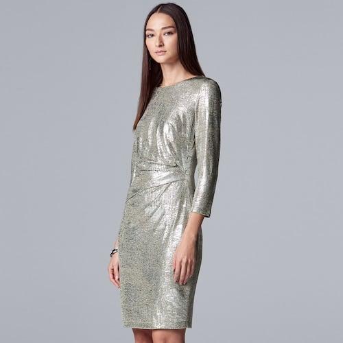 Simply Vera Vera Wang Side Ruched Knit Dress