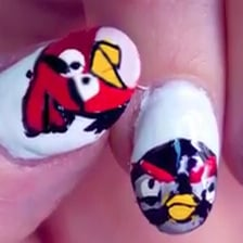 Angry Birds Nail Art How-To