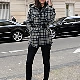 Emmanuelle Alt outside the Maison Martin Margiela Haute Couture show.