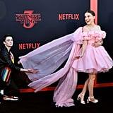 Noah Fluffed Millie's Dress at the Stranger Things Season 3 Premiere