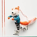 Figure Skating Fox Ornament
