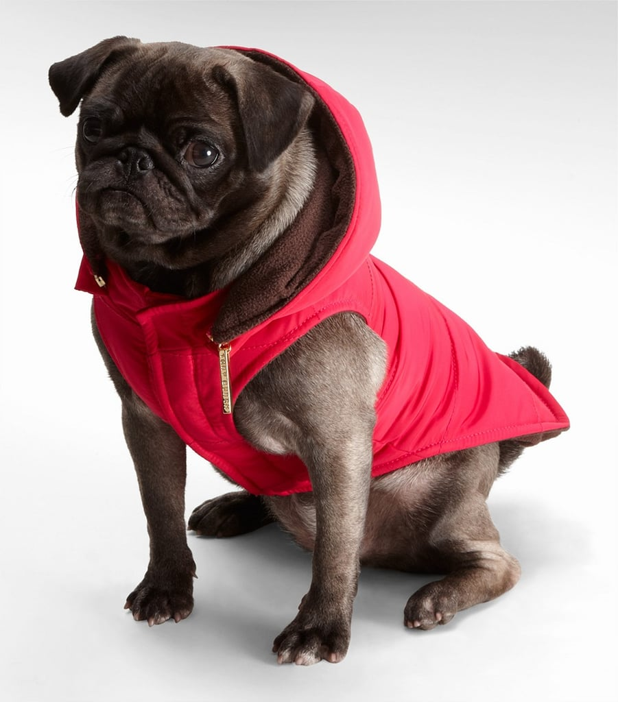 For something a little more luxe, Tory Burch's hot pink nylon puffer coat keeps your pooch toasty on chilly Valentine's Day walks.