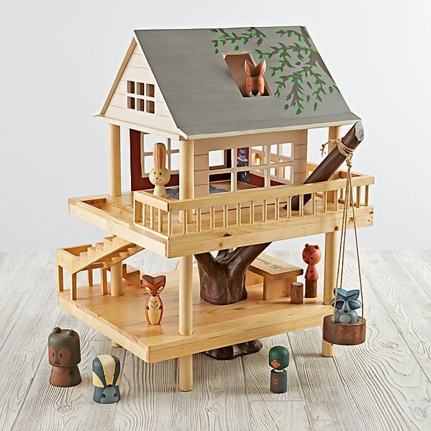 Land of Nod Treehouse Play Set and Camping Buddies
