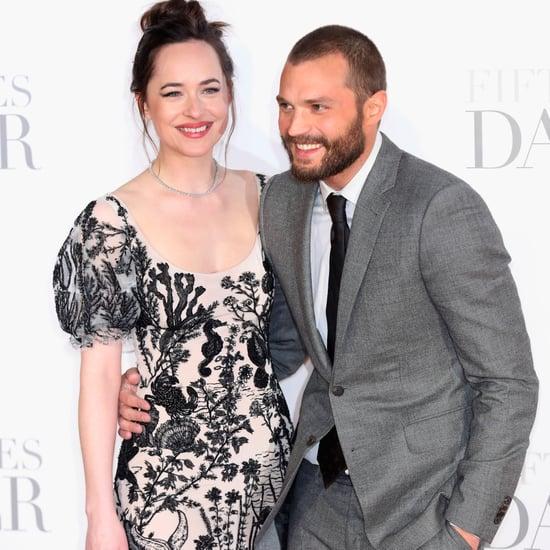 Jamie Dornan and Dakota Johnson Fifty Shades Darker UK 2017