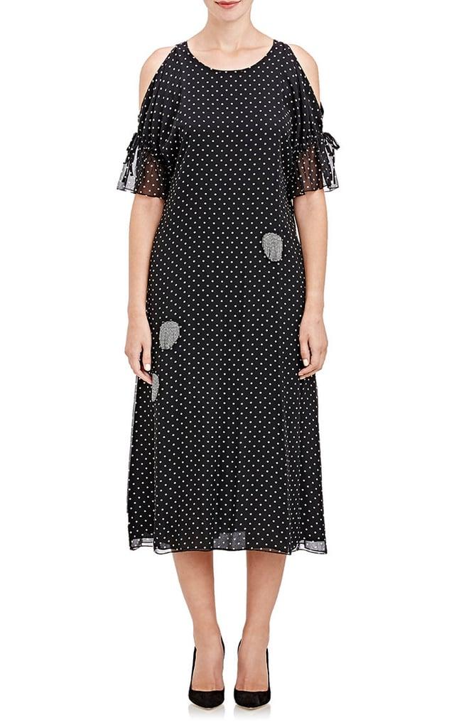 Thakoon Beaded-Fringe Open Shoulder Dress ($775, originally $1,550)