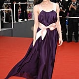 Dita von Teese wore this plum dress to the premiere of Selon Charlie in 2006.